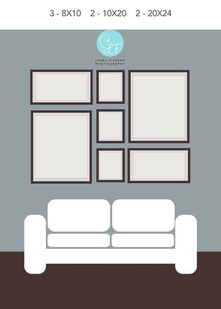 6 идей, как красиво повесить фоторамки на стене.