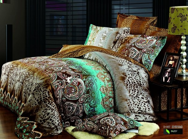 семейные комплекты постельного белья с простыней на резинке купить