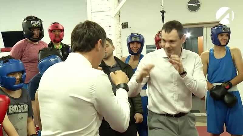 Астрахань посетили олимпийские чемпионы по боксу (05 ноя 2018)