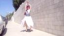 Ameynra fashion. Very-petal chiffon skirt. Sofia Goldberg