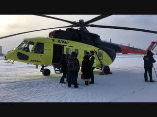 Смотрим вертолёт МИ-171 в тюменском аэропорту Плеханово