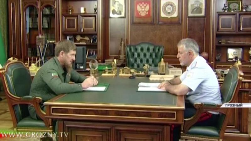 Рамзан Кадыров встретился с министром внутренних дел по ЧР Русланом Алхановым