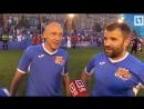 Звезды кино и легенды футбола сыграли на Красной площади