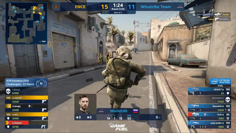 Ence steals the map on an eco round!