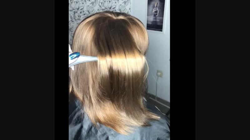 Выравнивали цвет волос