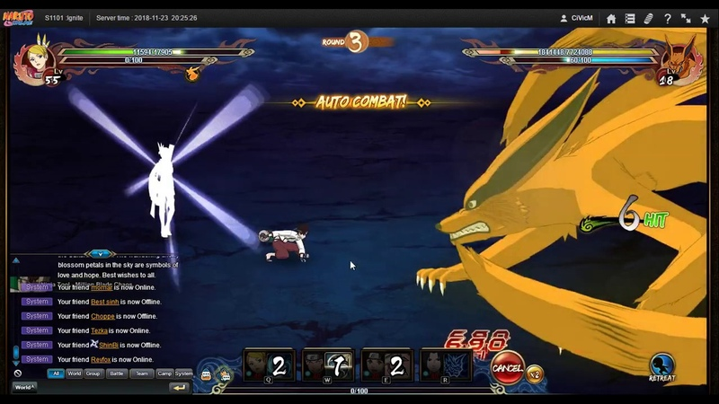 Naruto ナルト Online NS D11 6th Server Nine Tails Event