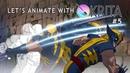 Let's Animate Ep. 5 - Krita: Wolverine