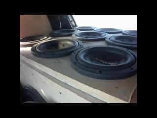 Mazda 323 Demo 12 12 pioneer subwoofers flex New NVX Audio XHC-600 batteries