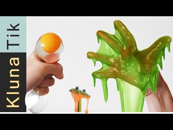 Giant Slime Stress BALLS for DINNER | KLUNATIK ASMR eating sounds no talk كرة ضد التوتر, Stres topu