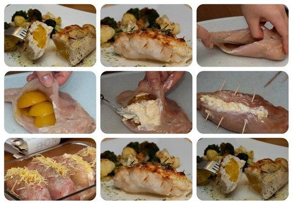 Фаршированная куриная грудка сыром и ананасами рецепты