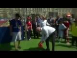 Путин поиграл в футбол на Красной площади