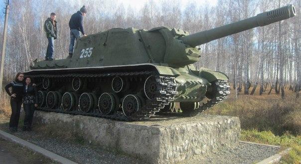 Самоходная установка ИСУ-152 около Мисяша