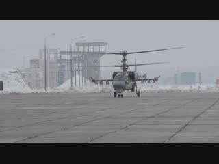 Первые полеты летчиков армейской авиации ЮВО на новых вертолетах Ка-52