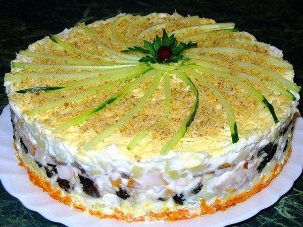 Рецепты слоеные салаты без курицы