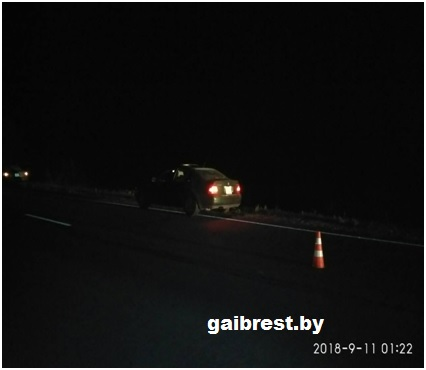 Брестский район: в результате ДТП погиб пешеход, находящийся на проезжей части дороги