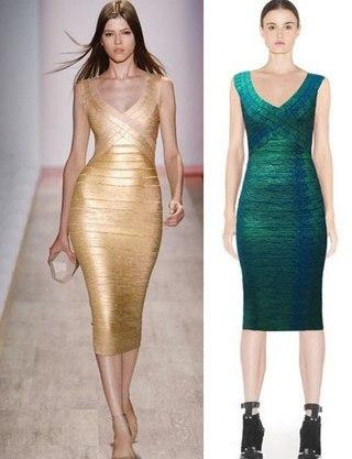 Модные бандажные платья