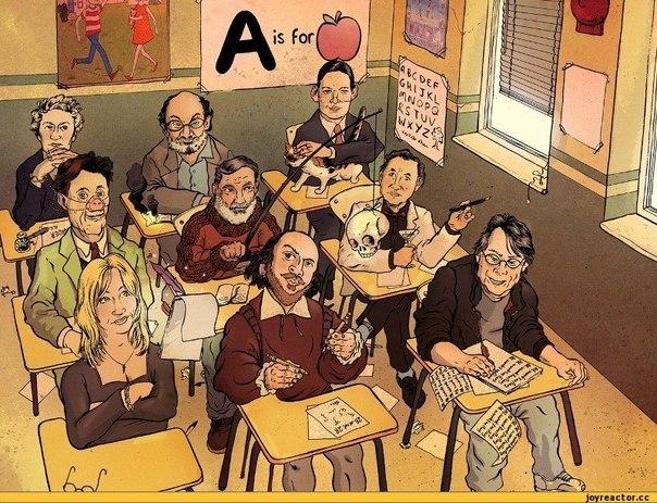 А вы узнаете всех писателей?
