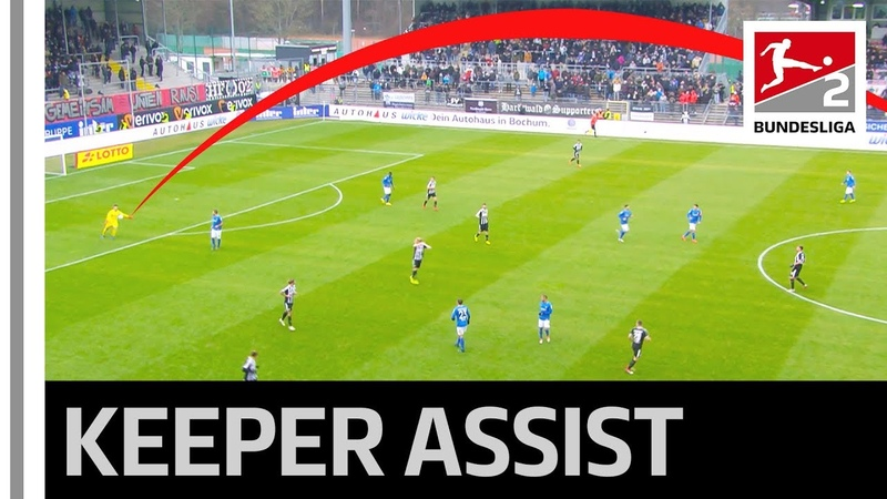 Goalkeeper Assists US Striker's Lob - Two Touches From One End To The Other
