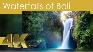 4K Waterfalls of Bali ,Indonesia with Dolby Surround Relaxing Music