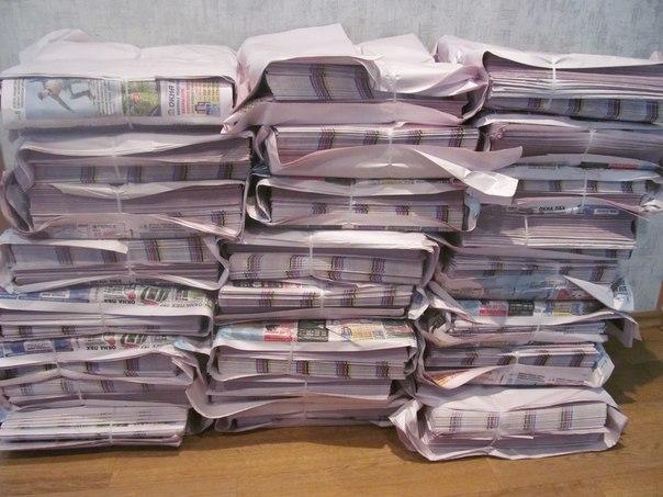 газеты для плетения.