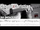 Charlie christian guitar solo transcription backing track   Bennys' buggle