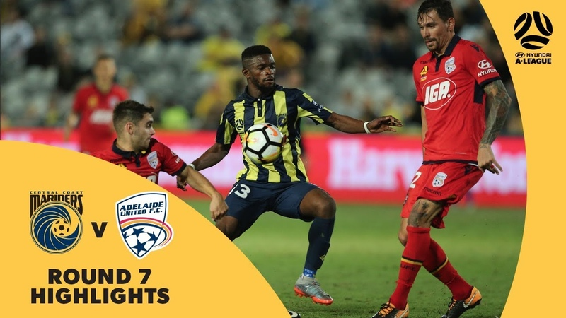 Hyundai A-League 201718 Round 7 Central Coast Mariners 1 - 2 Adelaide United
