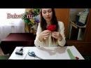 Конфетные композиции. Розы из конфет видео мастер-класс