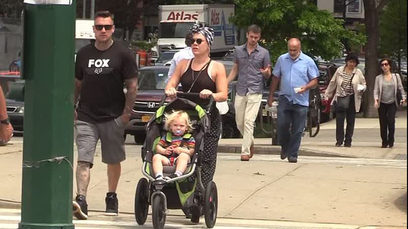 Video: Family day out Pink joins Carey Hart and Jameson in NYC