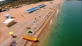 Пляж в Любимовке в Севастополе в Крыму 24 июля 2018. Турист из Сочи - в Любимовке лучше чем на ЮБК!