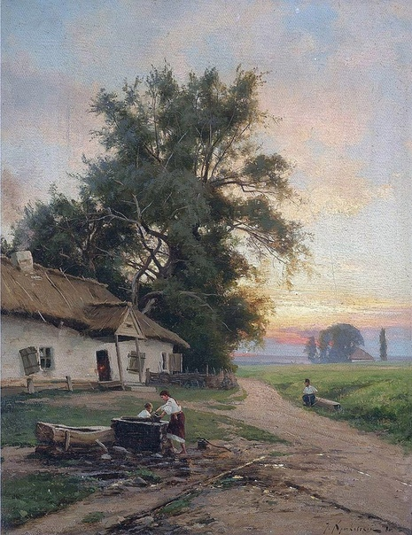 Картина «У колодца», 1886 год.