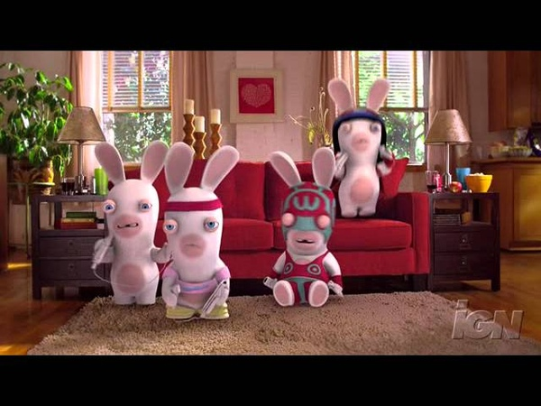 Rayman Raving Rabbids TV Party Nintendo Wii Clip-Commercial - Rabbids TV Party Commercial Spot
