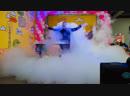 Тяжелый дым в шоу BubbleMan Galaxy plus шоу гигантских мыльных пузырей