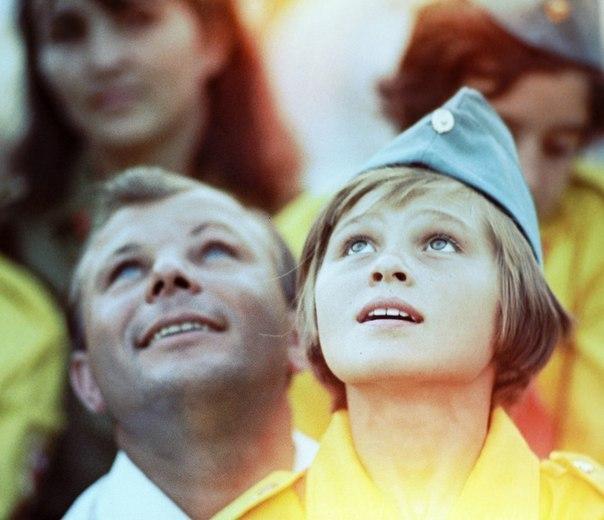 Снимок с Юрием Гагариным в Артеке.