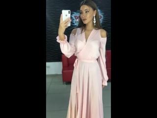 платье вечернее розовое