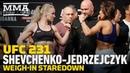 UFC231 Валентина Шевченко и Йоанна Енджейчик на взвешивании