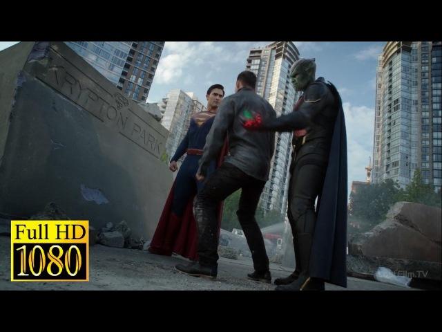 Супергёрл,Супермен, Алекс и Марсианский Охотник против двух Металло