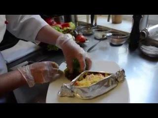 Семга запеченная с овощами (рецепт приготовления от лаунж-кафе Santa Monica)