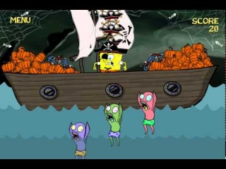 Game SpongeBob Zombiepond - игры ГубкаБоб