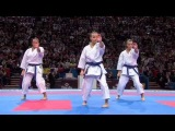 (22) Karate Japan vs Italy. Final Female Team Kata. WKF World Karate Championships 2012