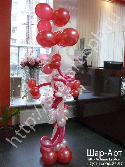 композиция из  шаров на день рождение магащзина