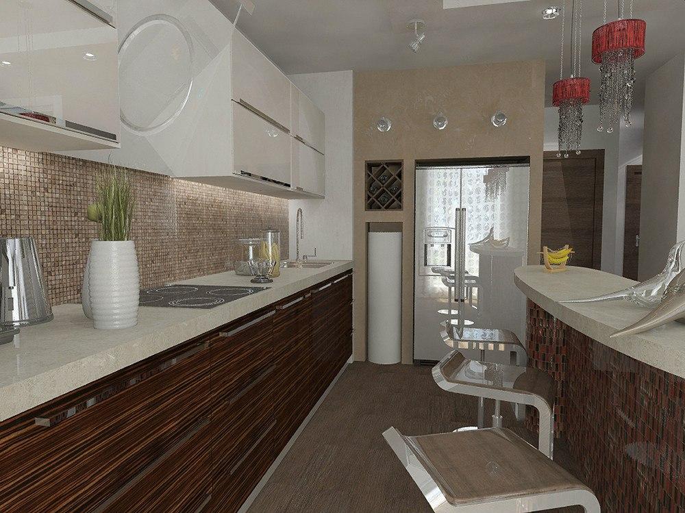 Проект студии 42 м из однокомнатной квартиры.