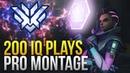 When Pros Make 200 IQ Plays Montage Overwatch Montage
