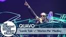 Выступление Quavo с треками «L A M B T A L K» и «W O R K I N M E» на шоу Джимми Фэллона