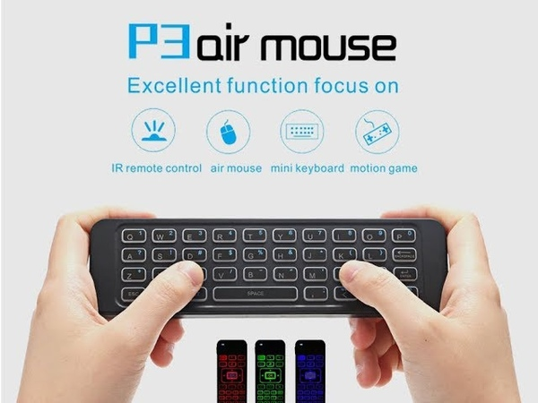 P3 2.4GHz Air Mouse Wireless Keyboard Remote Control with Backlight