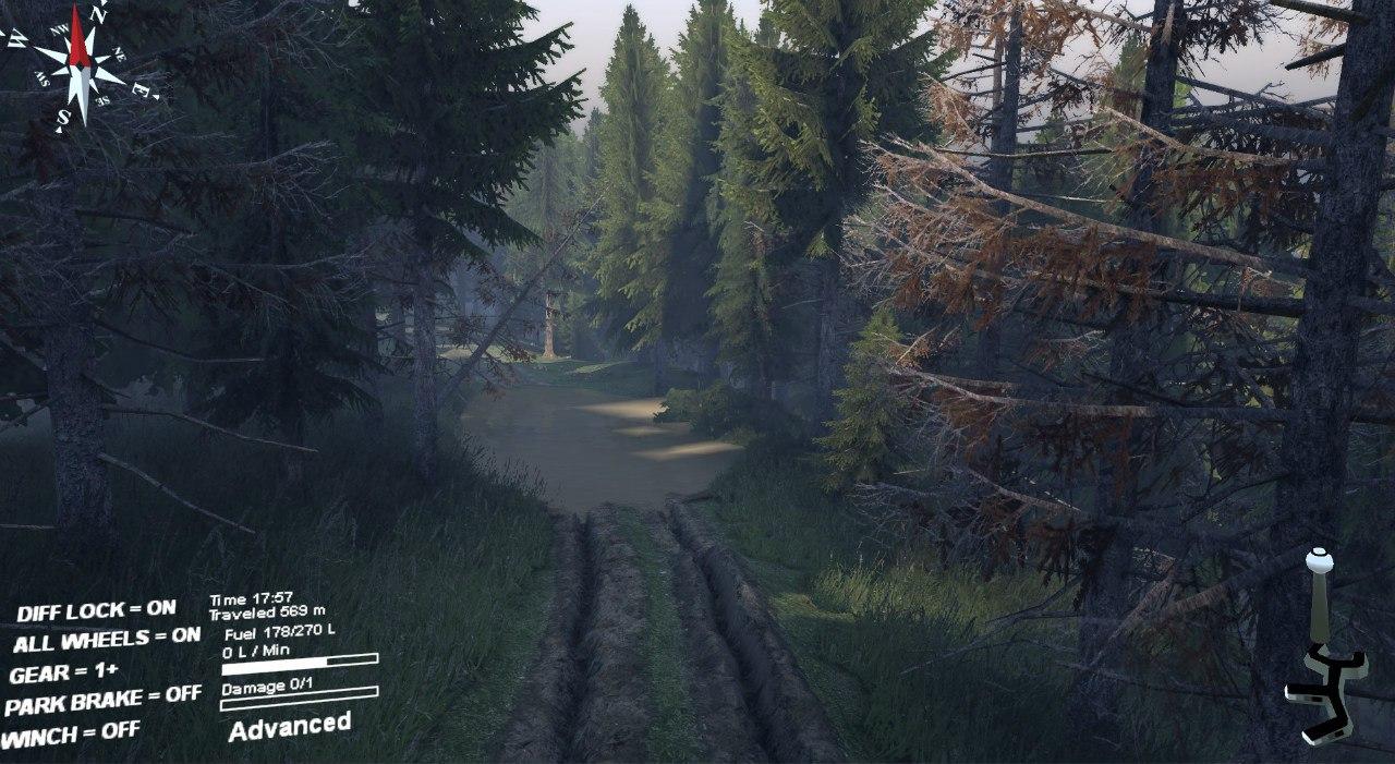 """Карта """"Сосновый бор"""" v 0.1 для Spintires - Скриншот 1"""