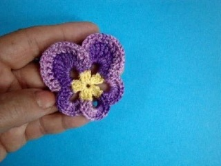 ������� ������ How to crochet pansy ������� ������� ���� 54