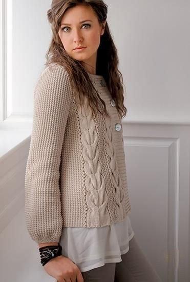Жакет спицами (9 фото) - картинка