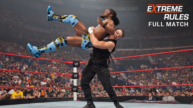 (WWE Mania) Extreme Rules 2013 Kofi Kingston(c) vs. Dean Ambrose - United States Title Match