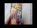 Силиконовый чехол бампер для айфон iphone 6 с картиной Леонида Афремова BLUES BEFORE SUNRISE