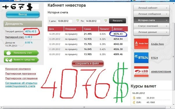 Отчет 10.09.2012 по 14.09.2012